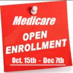 今日からメディケアのオープン・エンロールメントが開始です!- Medicare AEP Starts today!