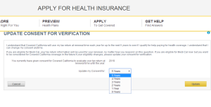Covered CA Consent Screen Shot
