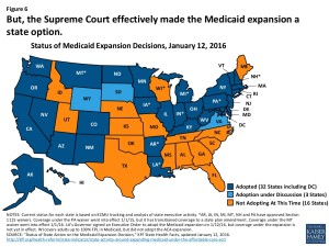 Medicaid Expansion map メディケイド