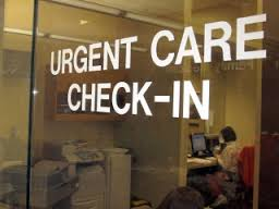 urgent care check-in sign