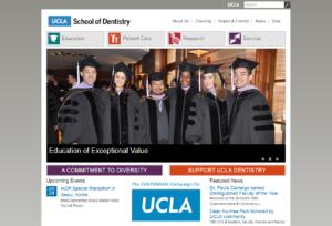ucla dentisty school website screenshot