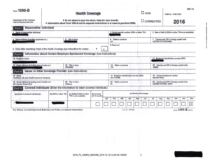 Sample 2016 IRS Form 1095