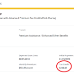 Premium Tax Credit / プレミアム・タックス・クレジット