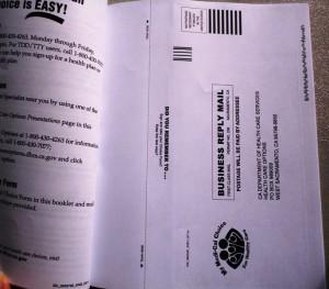 MediCal Booklet Postage Paid Envelope