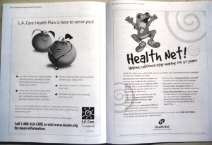 information provided by the plans page in Medi-Cal Booklet