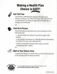 making a Health Plan Choice is Easy!