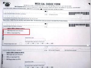 Medi-Cal Choice Form1