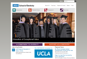 ucla dentisty school website screenshot
