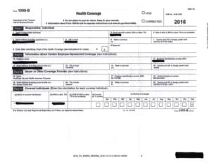 Sample 2016 IRS Form 1095
